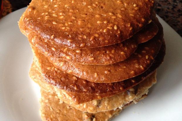 Имбирное печенье с кунжутом