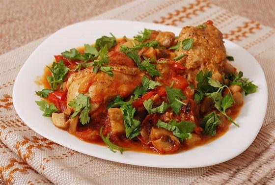 Масляная курица с рисом