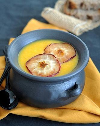 Яблочный крем-суп с карри