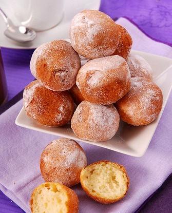 Круглые творожные пончики