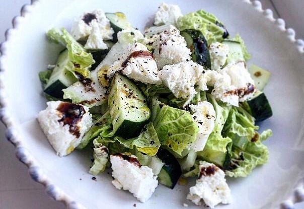 Диетический огуречный салат