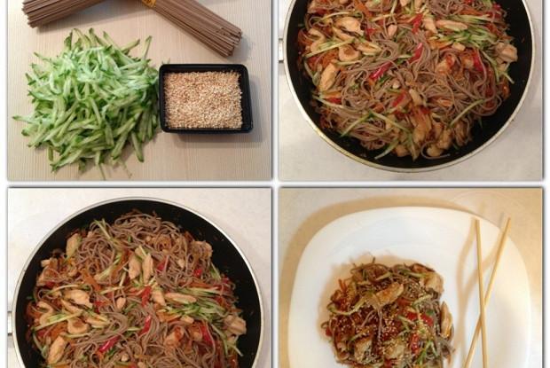 как готовить гречневые спагетти