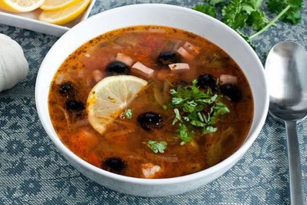 рецепты супов из говядины солянка