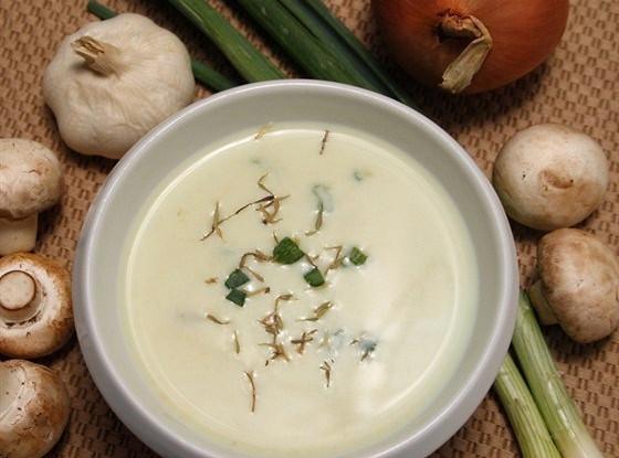Грибной суп с эстрагоном