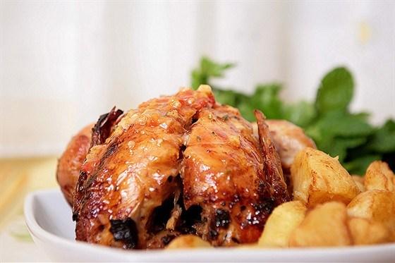 Жареный цыпленок с розмарином