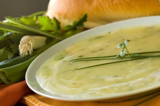 Суп с картофелем и луком-пореем