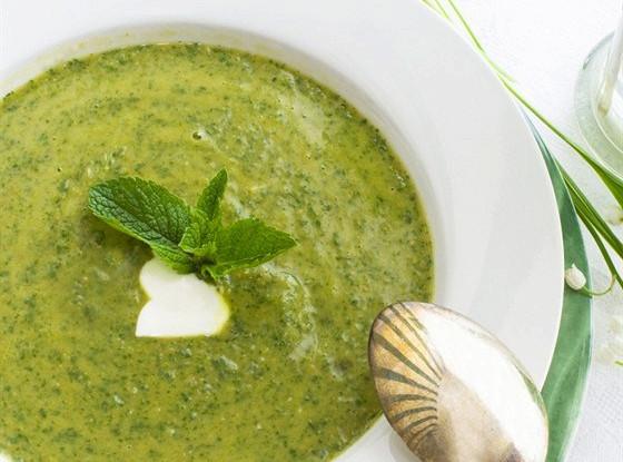 Суп-пюре из стручков фасоли