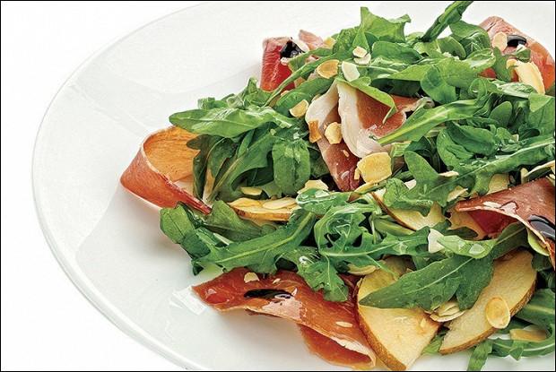 Теплый салат рукола теплая груша