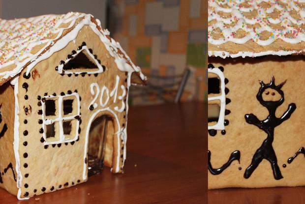 Пряничный дом с шоколадной глазурью