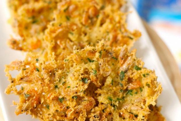 Оладьи из креветок (Tortillitas de camarones)
