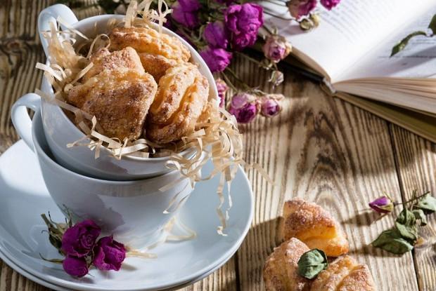 Творожное печенье в глазури