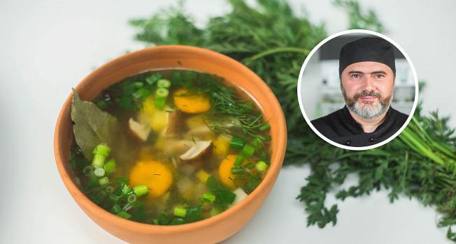 Как варить суп из белых грибов