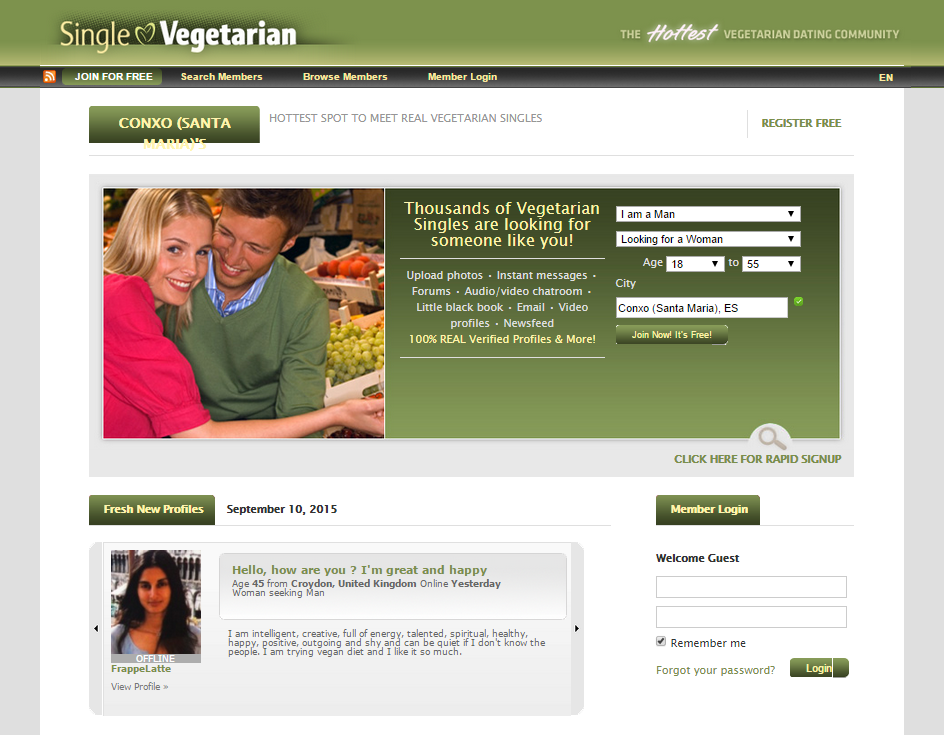 Vegetarian dating websites