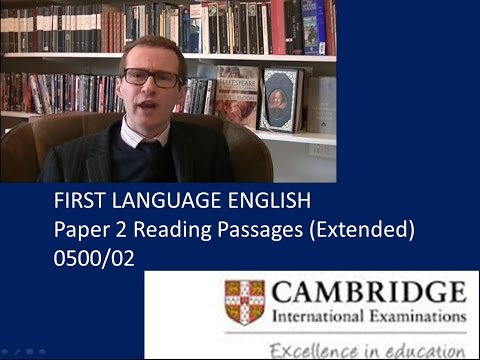 Cie igcse english language past papers