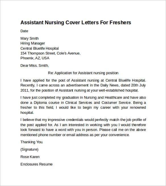 Write my cover letter examples