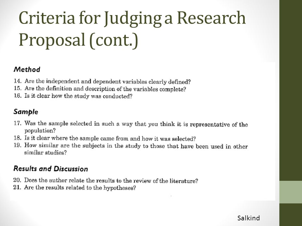 Complete research proposal