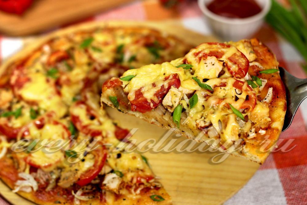 Рецепт быстрой и вкусной пиццы на кефире