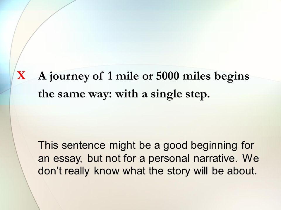 Interesting journey essay