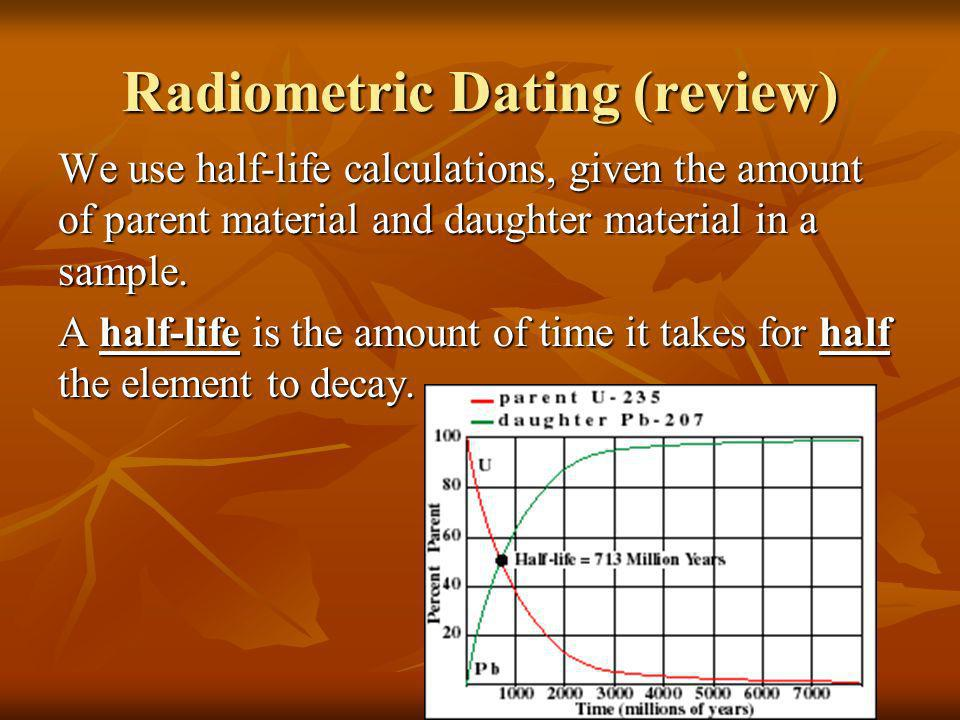 Radiometric dating game