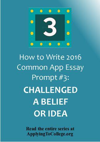 College essay topics common app
