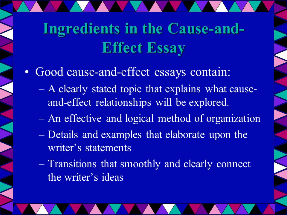 Write my causal argument essay examples