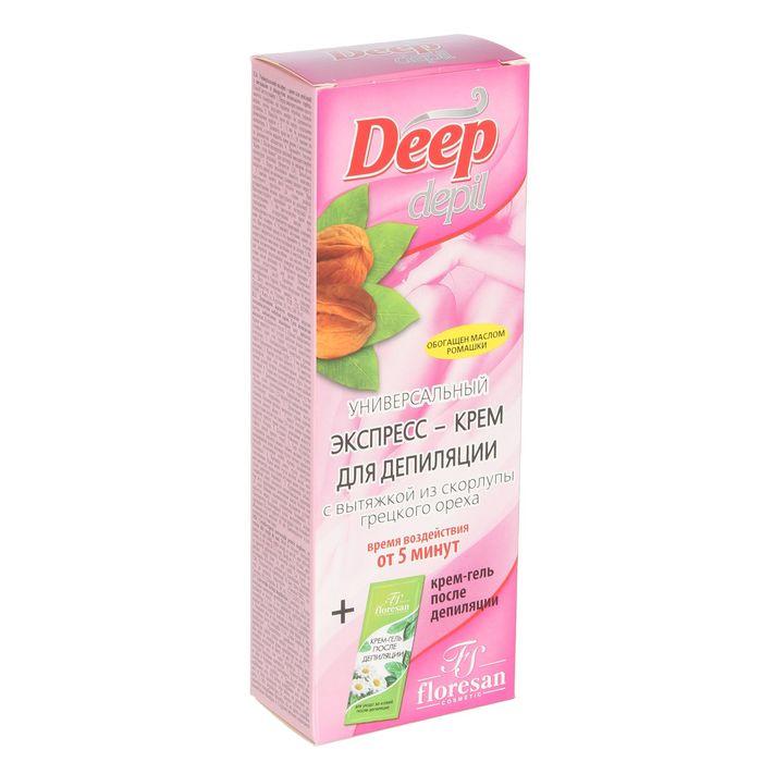 Экспресс крем для депиляции deep depil