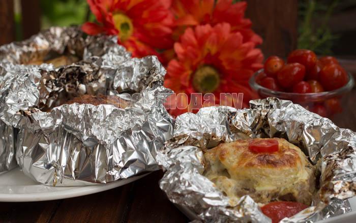 Мясо порционно рецепт с фото